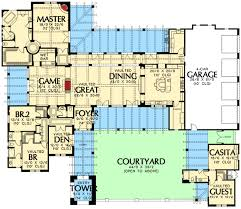 country floor plans striking hill country home with courtyard 16375md