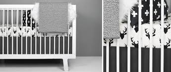Grey And White Crib Bedding Black And White Nursery Modern Crib Bedding Olli Lime