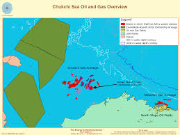 Arctic Ocean Map Arctic Ocean And Chukchi Sea Oil And Gas Exploitation