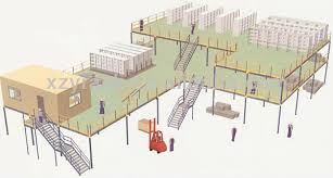 Steel Platform Mezzanine Floor Racking Industrial Racking And