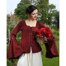 plus size pirate blouse pirate renaissance detachable sleeves linen blouse for costume and