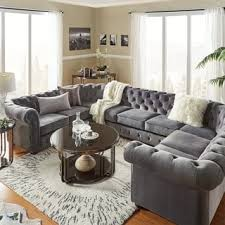 livingroom sectionals knightsbridge tufted scroll arm chesterfield 9 seat u shaped