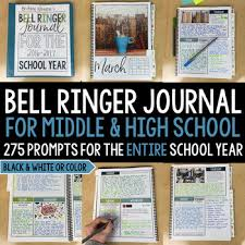 bell ringer journal for the entire year 275 journal