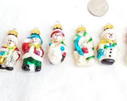 snowman ornaments etsy