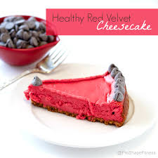 healthy red velvet cheesecake proshapefitness