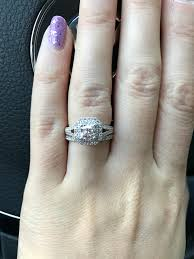 show your halo engagement ring with your wedding band ring