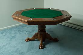Bumper Pool Tables For Sale Octagon Poker Table Part 5 Finishing It Up Brian Nelson