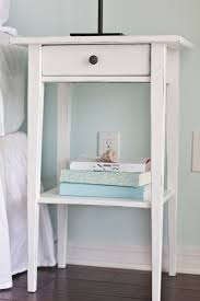 Ikea Hemnes Nightstand Blue Ikea Bedside Night Table Painted And Distressed Bedroom