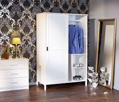 Schlafzimmer Schrank Amazon Esidra Bellingham Kleiderschrank 2 Schiebetüren Holz Weiß 120 X