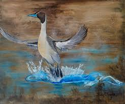 wildlife art duck painting wild life paintings rustic
