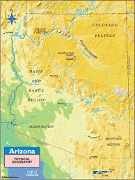 colorado physical map arizona physical geography map by maps from maps