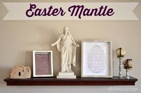 Easter Mantel Decorating Ideas by Easter Subway Art And Mantle Decor A Little Tipsy