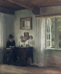 interior with woman reading carl vilhelm holsøe arts i like