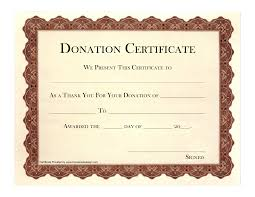 9 best images of printable certificates of donation printable