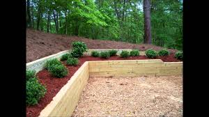 Bennett Landscape Inc Treated Timber Retaining Wall  Planting - Timber retaining wall design