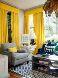 Interior Design Curtains by Chic Interior Designs With Yellow Curtains