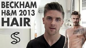 what hair producr does beckham use david beckham hairstyle h m 2013 how to style inspiration by