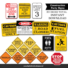 construction party supplies construction party signs bundle pack party supplies