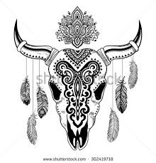 tribal skull stock images royalty free images vectors