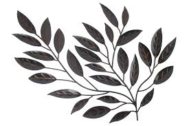 wall ideas gold metal tropical leaves wall decor giant metal