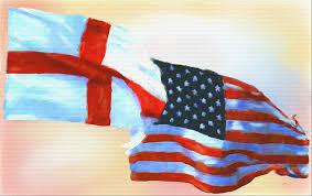 usa england flag painting art