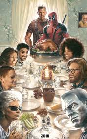 deadpool 2 celebrates thanksgiving with poster and