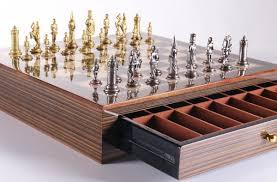 brass art deco men on red grain decoupage board u2013 chess house