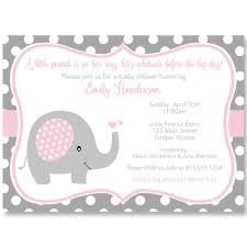 polka dots invitations polka dot elephant pink baby shower invitation the invite