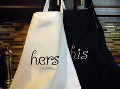 His And Hers Wedding Gifts Personalized Mr And Mrs Aprons Gift Set Bride And Grooms