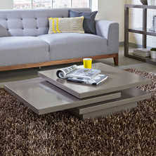 stone coffee table square coffee tables contemporary lounge furniture from dwell