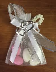 personalized ribbon for favors decorated organza bag w almonds personalized ribbons