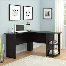 ameriwood furniture l shaped desk with 2 shelves in dark russet