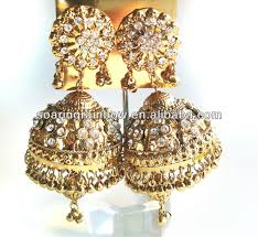 gold jhumka earrings diamond gold jhumka earrings buy diamond gold jhumka earrings