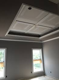 bedroom tray ceiling sherwin williams mink and proper gray