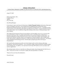 Entry Level Finance Resume Samples by Sample Cover Letter For Entry Level Finance Job Mediafoxstudio Com