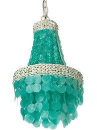 turquoise chandelier kouboo manor chandelier capiz seashell small turquoise