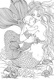 printable coloring pages of mermaids free printable coloring pages for adults mermaids larissanaestrada com