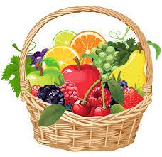 basket of fruit fruit basket png vector clipart еда продукты фрукты овощи
