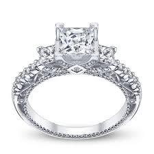 unique princess cut engagement rings pave unique verragio venetian three princess cut