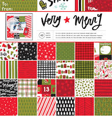 american crafts deck the halls merry 12 x 12 paper pad