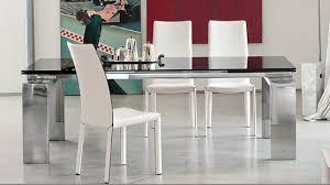 Glass And Chrome Dining Table Modern Dining Room Set U2013 Bonaldo