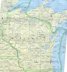 Wisconsin Railroad Map by