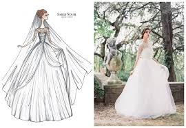 wedding dress designer from sketch to gown wedding dress designer sketches by sareh nouri