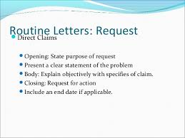 routine letters and good will messages