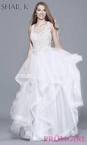 white and ivory wedding dresses promgirl