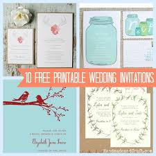 diy wedding invites 10 free printable wedding invitations diy wedding