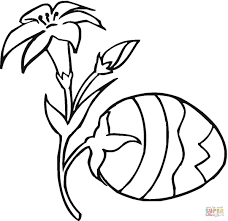 easter egg plant coloring page free printable coloring pages