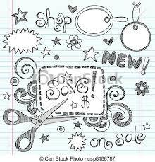 doodle drawings for sale sale coupon scissors doodle vector sketchy notebook doodles