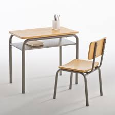 chaise d colier bureau et chaise d écolier vintage buton la redoute interieurs gris