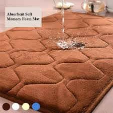 Bathroom Memory Foam Rugs Memory Foam Mat Bath Bathroom Rug Shower Non Slip Carpet Absorbent